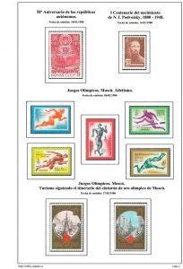 Segunda pagina del album de URSS 1980