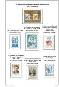 Segunda pagina del album de URSS 1988
