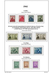 Segunda pagina del album de Eslovaquia 1940-1942