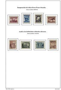 Segunda pagina del album de Eslovaquia 1943-1945