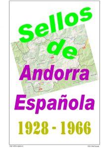 Portada del album de Andorra española 1928-1966