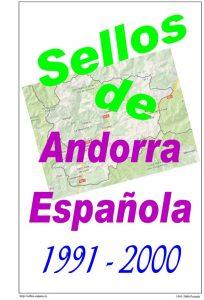 Portada del album de Andorra española 1991-2000