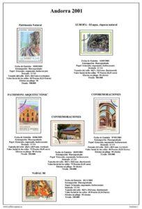 Primera pagina del album de Andorra Española 2001-2010