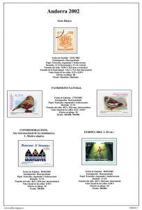 Segunda pagina del album de Andorra Española 2001-2010