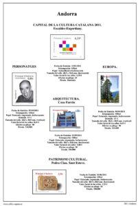 Primera pagina del album de Andorra Española 2011-2015