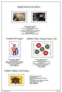 Segunda pagina del album de Andorra Española 2011-2015