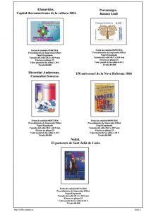 Segunda pagina del album de Andorra Española 2016-2017