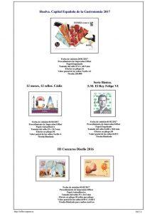 Segunda pagina del album de España 2017