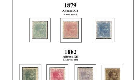 Primera Hoja de Sellos de Fernando Poo 1868-1900