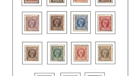 Primera Hoja de Sellos de Fernando Poo 1901-1929
