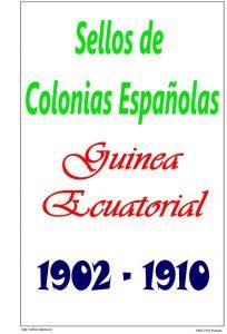 Portada del album de Guinea Ecuatorial 1902-1910