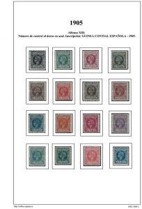 Segunda pagina del album de Guinea Ecuatorial 1902-1910