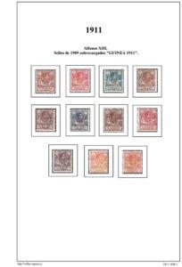 Primera pagina del album de Guinea Ecuatorial 1911-1920