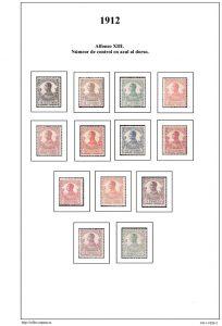 Segunda pagina del album de Guinea Ecuatorial 1911-1920