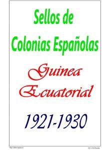 Portada del album de Guinea Ecuatorial 1921-1930