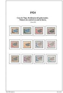 Segunda pagina del album de Guinea Ecuatorial 1921-1930