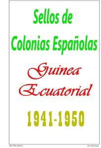 Portada del album de Guinea Ecuatorial 1941-1950