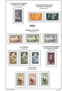 Segunda pagina del album de Guinea Ecuatorial 1951-1959