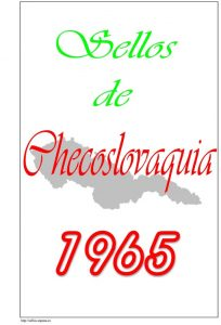 Portada del album de Checoslovaquia 1965