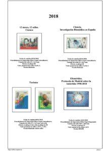 Primera pagina del album de España 2018